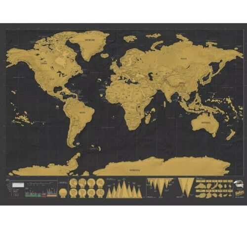 SCRATCH MAP DELUXE EDITION - Designed By Luckies Of London - $25.00