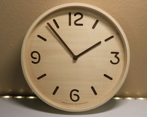 Lemnos THOMSON Natural Wood Clock (LC10-26 NT) Made in Japan