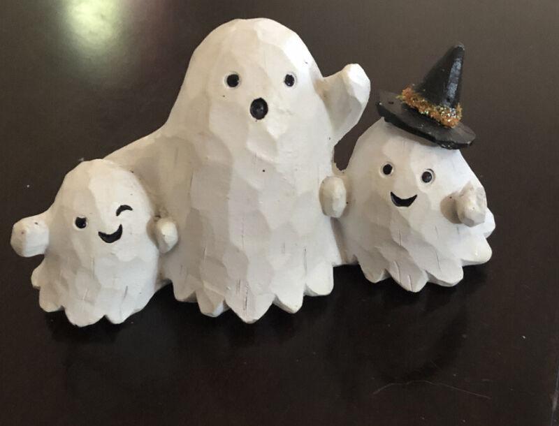 "Ghost 3 Figurine Ceramic-Porcelain Adorable 2.75"" Tall"