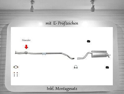 Auspuff Fiat Grande Punto 199 1.4 Auspuffanlage Endtopf Flexrohr Montagesatz online kaufen