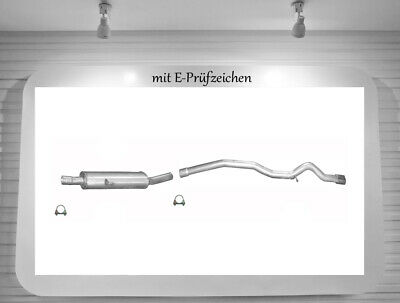 Auspuffanlage Mercedes B200 (W245) 2.0 CDI Auspuff Mitteltopf Endrohr Schelle