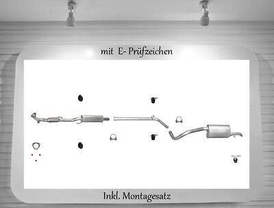 Auspuffanlage VW Polo 9N 1.2 VW Fox 1.2 Auspuff 40/44/47/51KW BJ.11.2005-05.2014 online kaufen