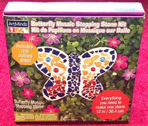 ArtMinds Butterfly Mosaic Stepping Stone Kit for Kids (Unopened)