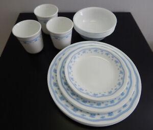 NEW – Vintage Corelle Livingware Morning Blue Dinnerware Set