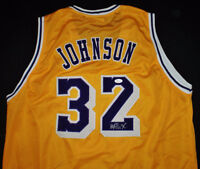 LOS ANGELAS LAKES MAJIC JOHNSON AUTOGRAPHED JERSEY