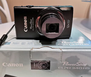 CANON PowerShot Elph 340 hs with case & 8gb card   $180 obo
