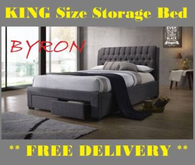 7d140e88e90 BRAND NEW King Size Bed Frame With STORAGE DRAWERS FREE DELIVERY.  749