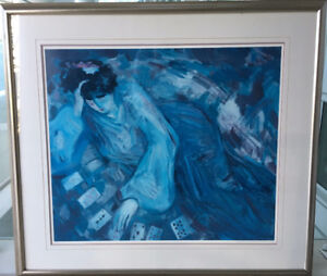 """Large Limited Edition, Signed by Barbara Wood """"Solitaire"""""""