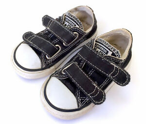 Genuine Converse All Stars Baby Toddler Velcro Shoes Size 5