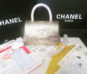 """Brand new chanel bag with """"real snake leather"""""""