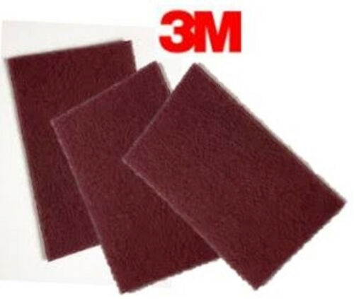 3M  #7447 6x9  SCOTCH BRITE HAND PADS MAROON - 60 Pieces - NEW