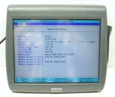 Oracle Micros Pcws2015 I5-e520 2.40ghz 4gb Pos System 423695-310g No Hdd