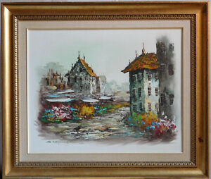 """Original oil painting by Stephanous, canvas 16.5""""x20.5"""""""