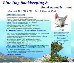 Bluedog Bookkeeping & Training QuickBooks Simply Acct Sage  Tax