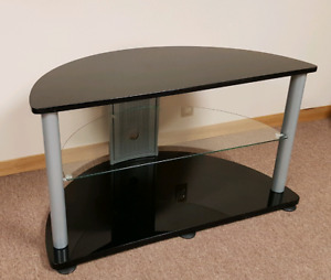 """TV ENTERTAINMENT UNIT WITH GLASS SHELVES 40"""" wide"""