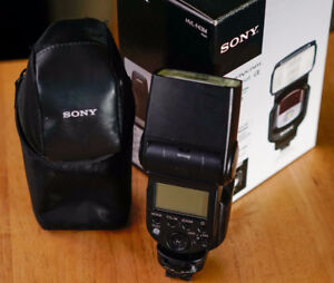 Sony Flash hvl-f43m for modern Sony mirrorless and alpha cameras