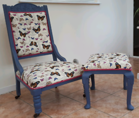 Vintage chair and stool (Smoke and pet free home)