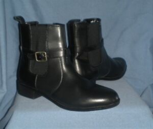 Womens Croft & Barrow Black pull-on Ankle / Jean Boots 8.5 M