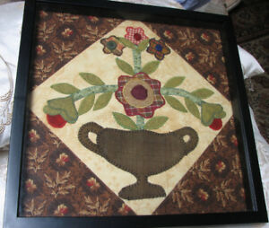 Courtepointe dans cadre / Framed Quilt in shadow box Painting