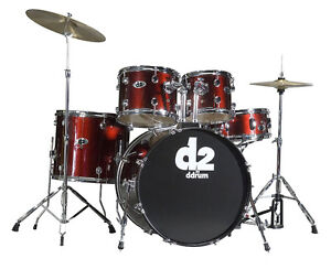 DDrum D2 Drum Kit, Blood Red. Brand New, Complete 5-pc Drumset