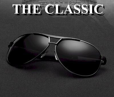 Men's Aviator Polarized Anti UV, UV400, Driving Sunglasses + Glasses Accessories ()