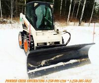 BOBCAT SERVICES, SNOW PLOW REMOVAL, WOOD SPLITTING, FIREWOOD
