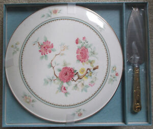 Fine Bone China Royal Osborne HI Cake Plate & Server Dia.11-1/4""