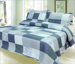 New - 3 pc Quilt set - King and Queen Size available