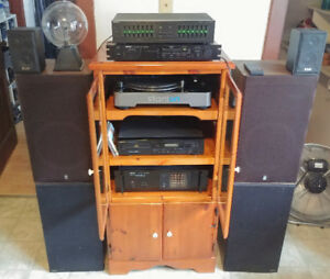 Nikko Stereo Audio System, Stanton T.62 Turntable and some misc
