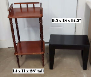 Assortment of small accent tables  ALL ONE PRICE