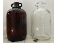 Wine/cider making used 1-gallon glass demijohns