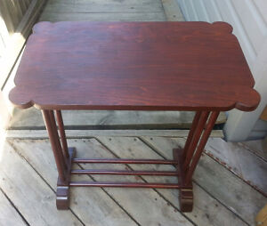 Antique Cherry Wood Side Table $15