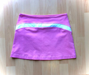 Lululemon Luon Pink & White Skirt - New Condition - Size 6