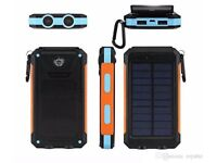 2018 10000mAh Waterproof Solar Power Bank Dual USB, SOS Led Charger Travel Power bank -NEW IN BOX