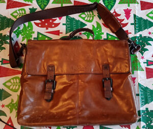 Sac laptop bag Rudsak en cuir brun