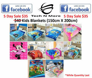Kids Blankets (10 Options) 5 DAY SALE