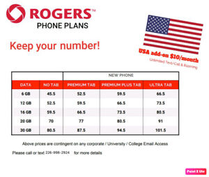 ROGERS DISCOUNTED    PLANS - not available in store