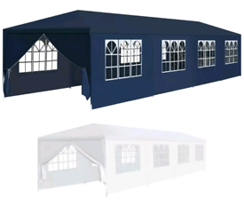 3x12m NEW Garden Gazebo Marquee Canopy Tent - in white or blue - £200