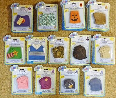LARGE LOT OF NEW IN PACKAGE WEBKINZ CLOTHING