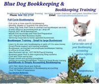 Blue dog Bookkeeping Training Tax QuickBooks Simply Acct Sage