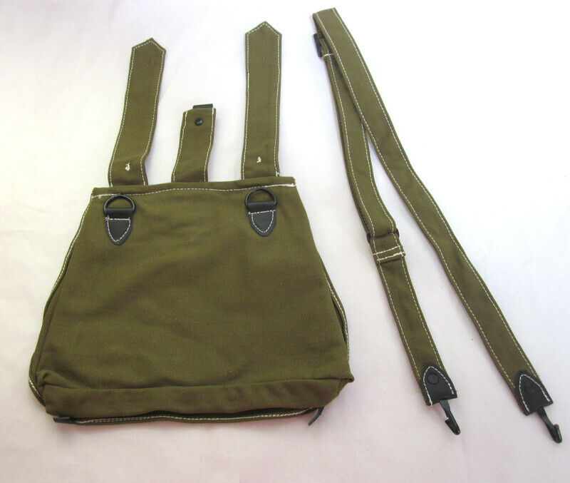GERMAN MILITARY ARMY CANVAS BREAD BAG WITH SHOULDER STRAP Replica
