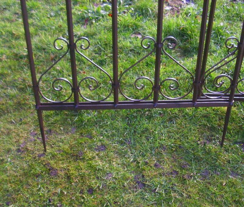 2 steck rankgitter zaunelement gartenzaun eisen antik. Black Bedroom Furniture Sets. Home Design Ideas