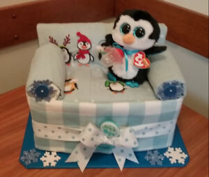 PEGUIN/COUCH BABY BOY SHOWER GIFT