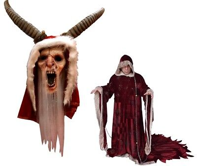 Halloween Christmas Michael Dougherty's Krampus Deluxe Costume & Latex Mask NEW (Krampus Masks)