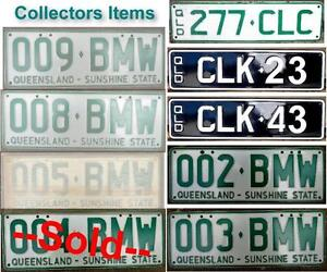 Number Plates Rare and Unusual Collectables. Eumundi Noosa Area Preview