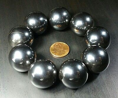 4 Four Large Rare Earth Hematite Singing Magnets Super Strong Ball Magnets 1