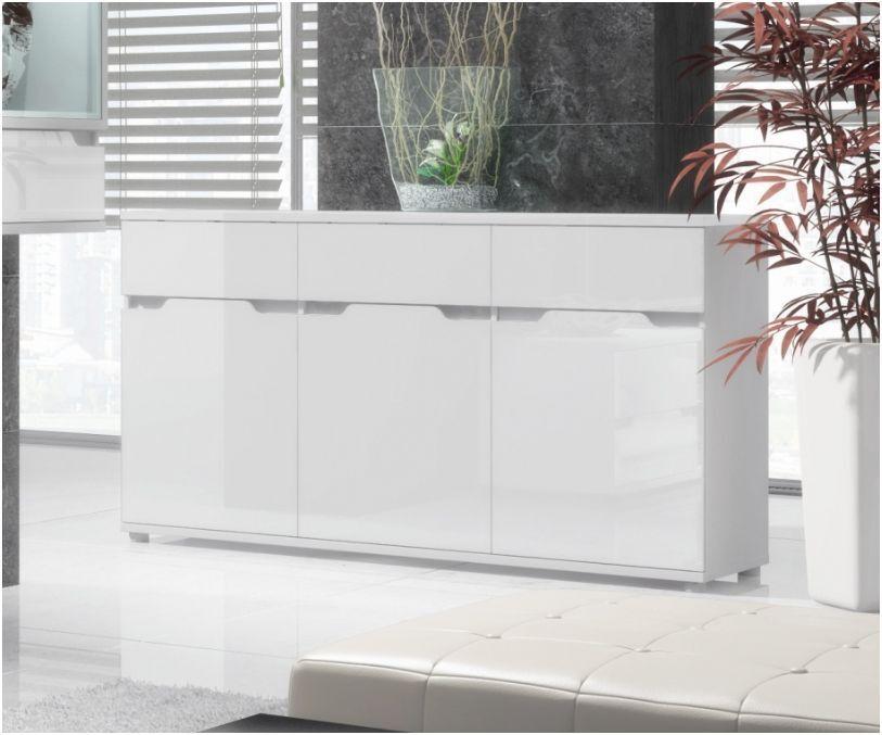 Aspire High Gloss White Lounge Furniture Sideboard TV Unit Tall Display Cabinet eBay