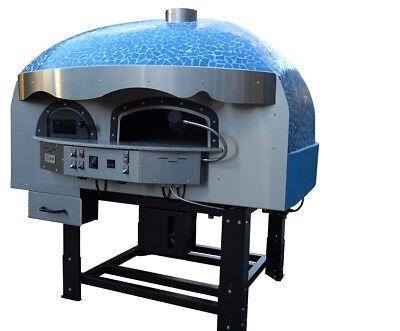 Mixed Gas-wood-burning Pizza Oven Blue Mosaic