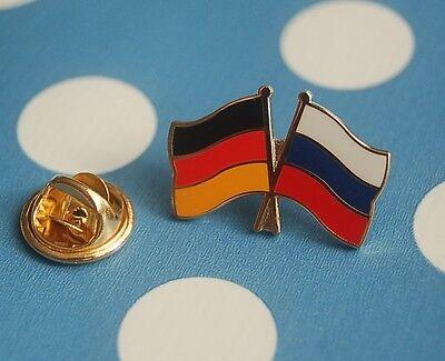 Freundschaftspin Deutschland Russland Rußland Pin Button Badge Anstecker