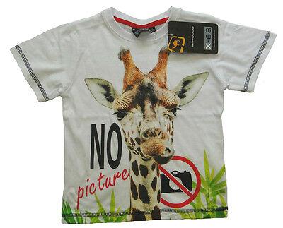 Giraffe Kinder-t-shirt (Jungen kurzarm Shirt Giraffe no pictures weißes Kinder T-Shirt Girl Tiere cool)